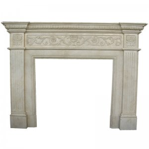 White Marble Fireplace NSFIR001