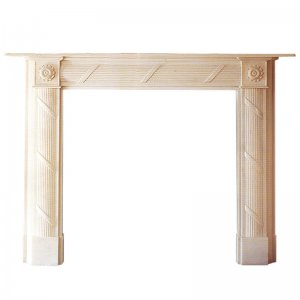 Travertine Fireplace NSFIR011