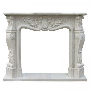 White Marble Fireplace NSFIR014