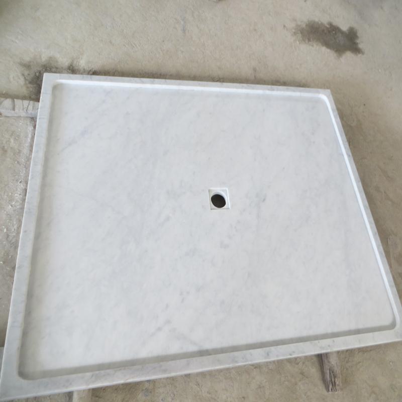 Bianco Carrara White Marble Shower Tray