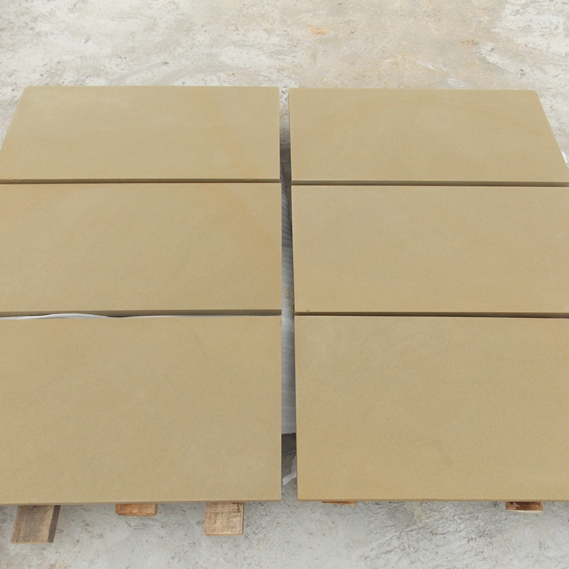 Pure Yellow Exterior Wall Cladding Stone