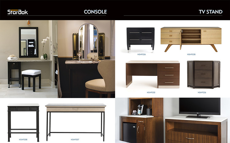 console and tv stand furniture for hotel