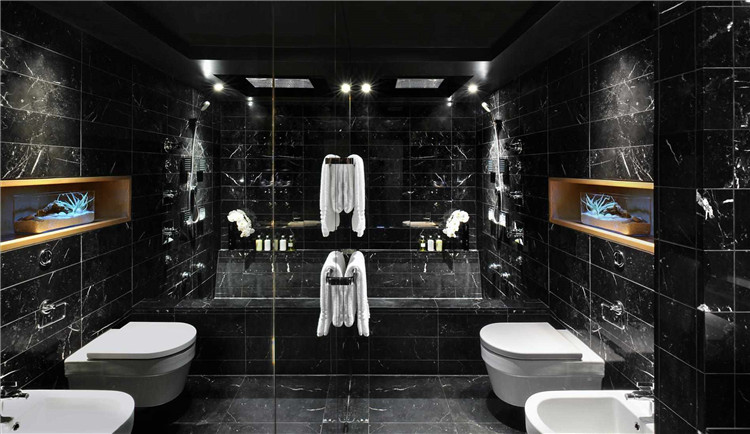 Nero Marquina Marble Tiles for Bathroom