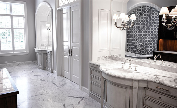 Calacatta white marble vanity tops for bathroom