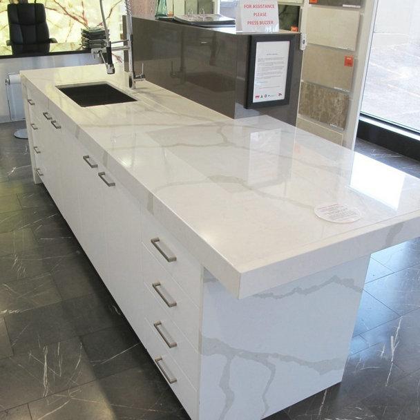 Calacatta white quartz calacatta classique quartz newstar for Quartz countertop slab dimensions