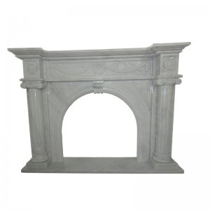White Marble Fireplace NSFIR002
