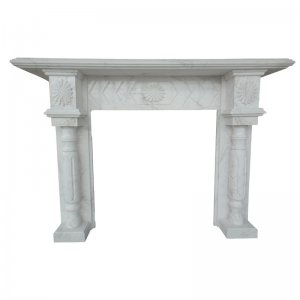 White Marble Fireplace NSFIR005