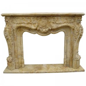 Travertine fireplace NSFIR010