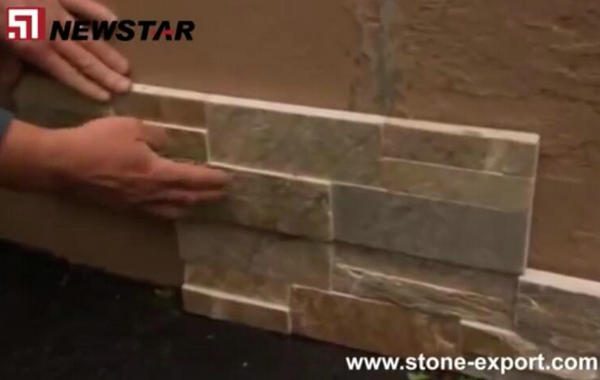 How to install cultural slate wall veneer stone